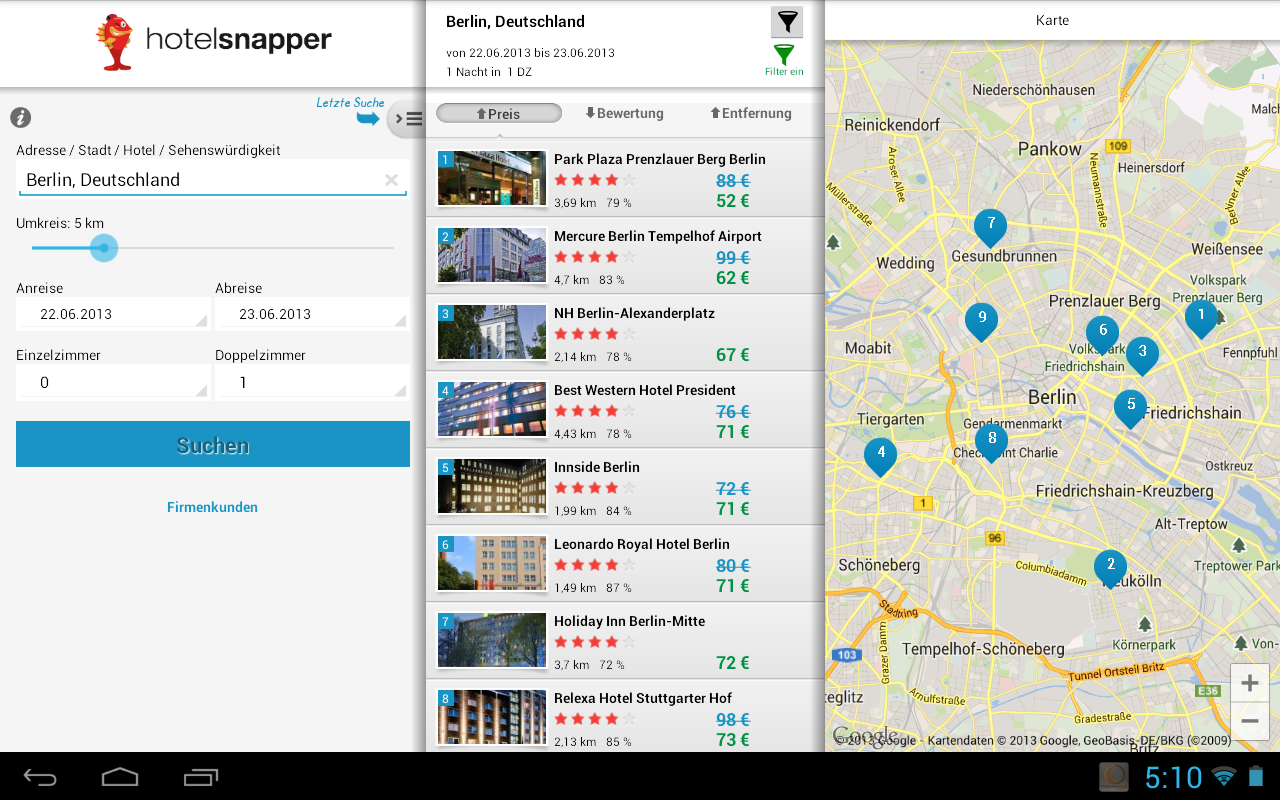 Hotelsnapper – Screenshot