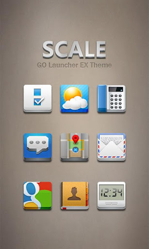 S-CALE GO Launcher Theme