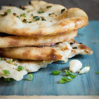 Homemade Garlic Naan Bread.