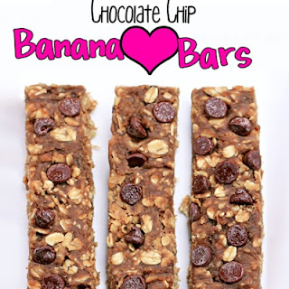 Chocolate Chip Banana Love Bars.