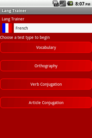 Lang Trainer - French- screenshot