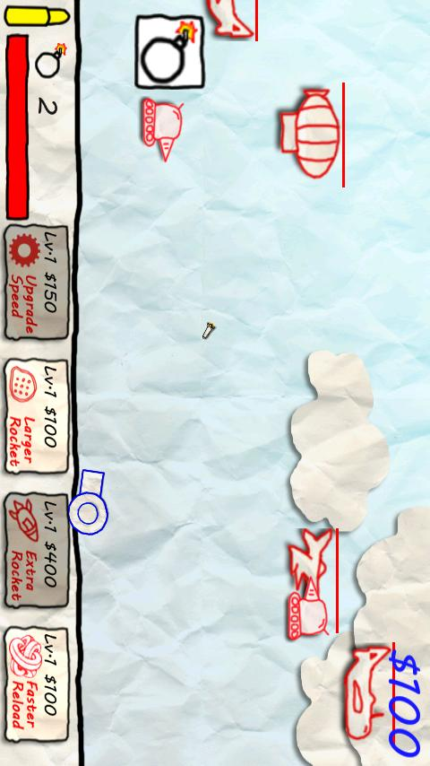 Paper War for 2 Players - screenshot