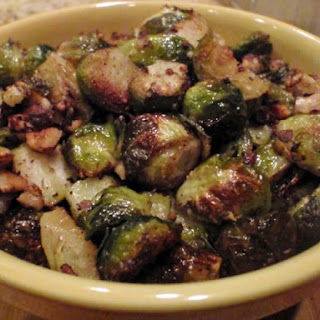 Roasted Brussels Sprouts With Hazelnut Brown Butter.