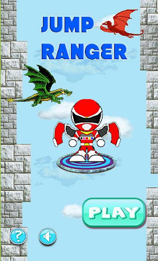 Flying red rangers jump game