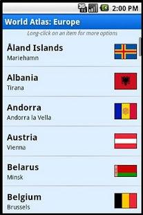 World Atlas - screenshot thumbnail Android এর চমৎকার ও প্রয়োজনীয় কিছু Apps