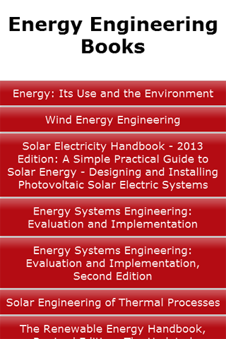 Energy Engineering Books