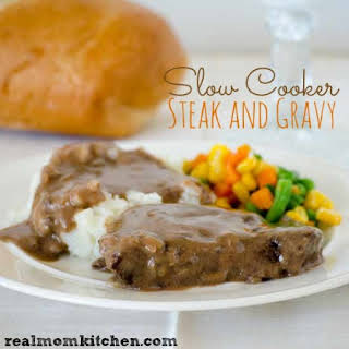 Slow Cooker Steak and Gravy.