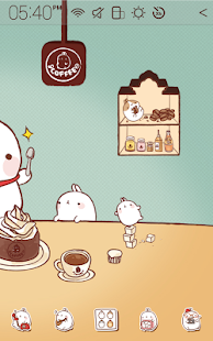 Molang Cafe Atom Theme - screenshot thumbnail