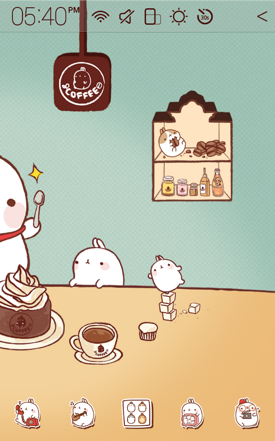Molang Cafe Atom Theme - screenshot
