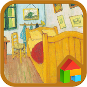 Van Gogh's Bedroom dodol theme