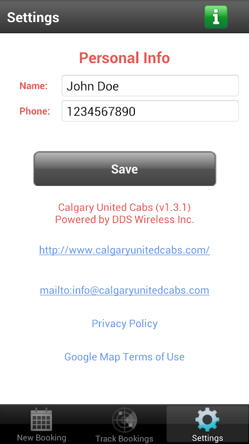 Calgary United Cabs- screenshot