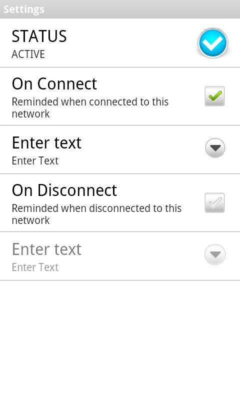 Network Based Reminder - screenshot