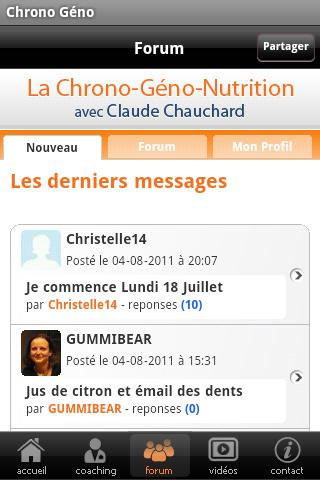 La Chrono Géno Nutrition v0.1 - screenshot
