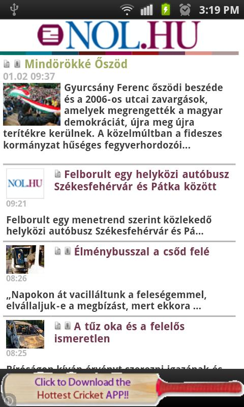 All Newspapers of Hungary-Free - screenshot