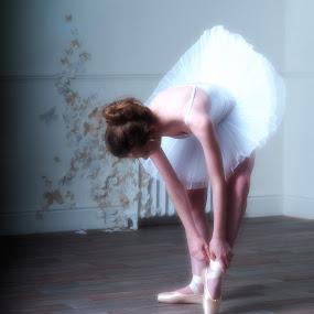 ballet slippers  by Phil Barker - People Portraits of Women ( girl, tutu, female, ballet )