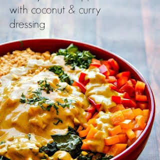 Chopped Thai Salad with Coconut-Curry Dressing.