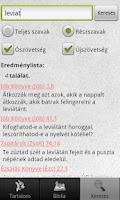 Screenshot of Károli-Biblia