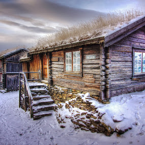 Røros, Norway. by Jan Helge - Buildings & Architecture Public & Historical ( old house, røros, snow, old town, norway,  )
