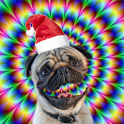 Christmas talking dog icon