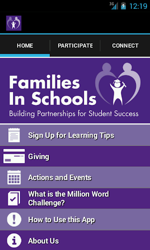 The Families in Schools App