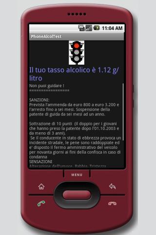 Phone Alcol Test- screenshot