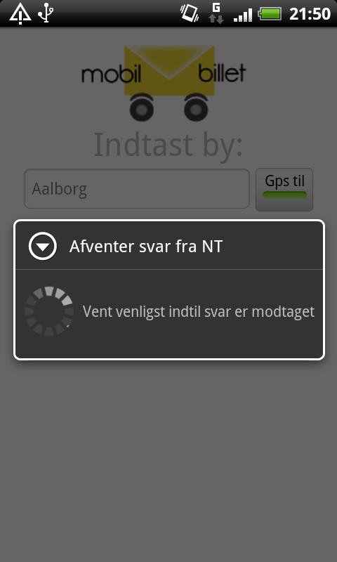Mobil Billet - screenshot