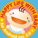 赤ちゃんにっこり Baby+Smile logo