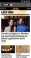 Screenshot of DR Nyheder