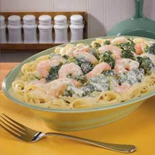 Broccoli Shrimp Alfredo