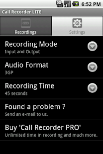 Call Recorder LITE - screenshot thumbnail