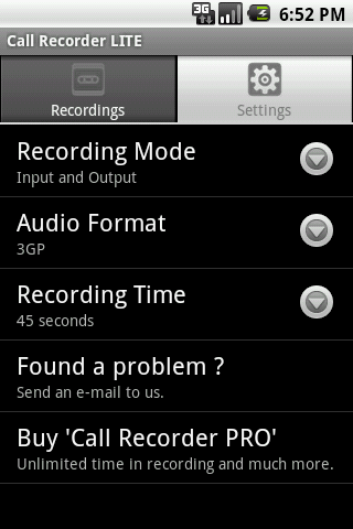 Call Recorder LITE - screenshot