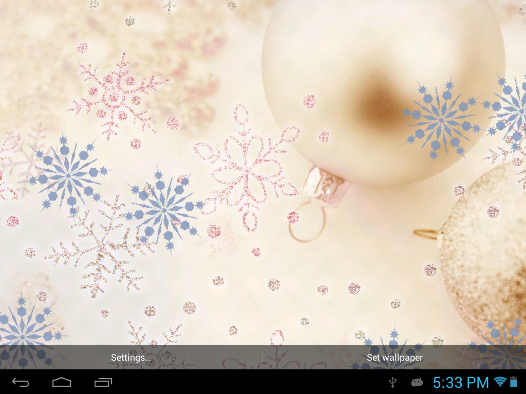 Galaxy S4 Christmas Live WP - screenshot