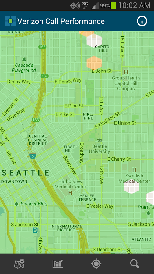 Cell Phone Coverage Map - screenshot