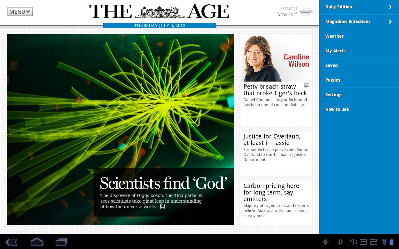 The Age App for Tablet - screenshot