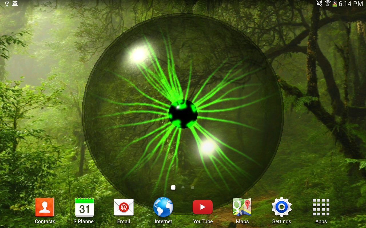 Plasma Orb Free Live Wallpaper - screenshot