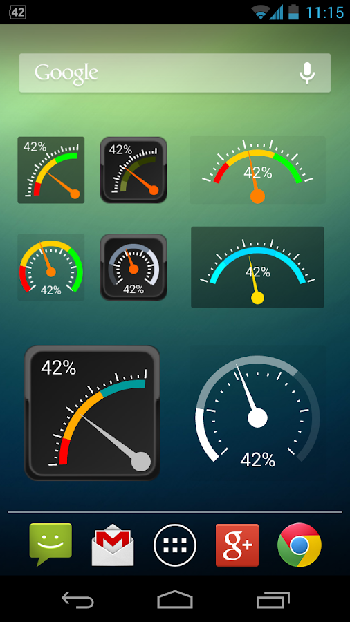 Gauge Battery Widget 2015- screenshot