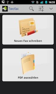 TWOFAX - Faxe verschicken