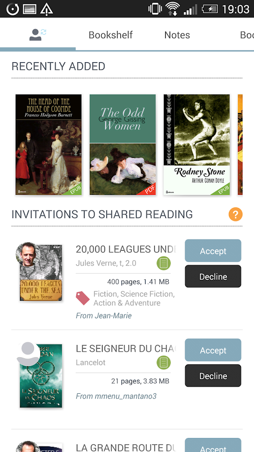 Mantano Ebook Reader Premium - screenshot