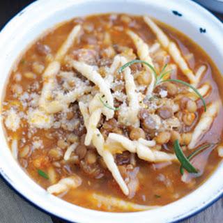 Pasta Soup with Lentils