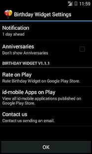 Birthday Widget- screenshot thumbnail