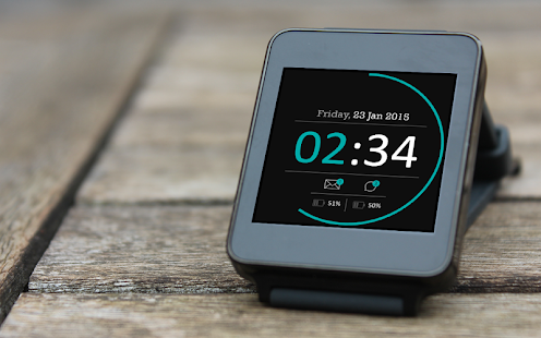 Blueish Black Material Watch- screenshot thumbnail