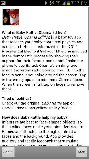 【免費娛樂App】Baby Rattle: Obama Edition-APP點子
