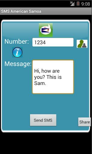 Free SMS American Samoa