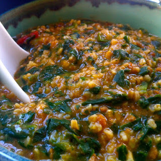 Savory Spinach Oats