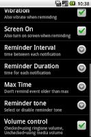 Screenshot of Missed Call Reminder v1