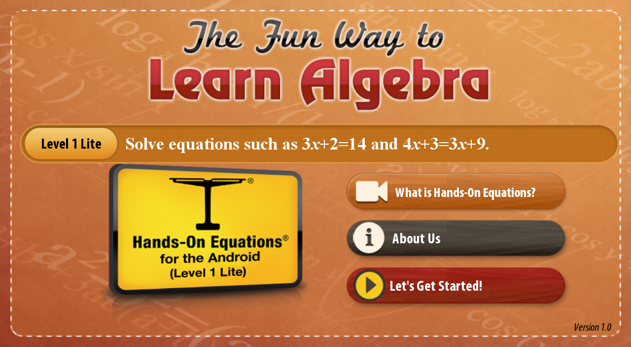 The Fun Way to Learn Algebra - screenshot