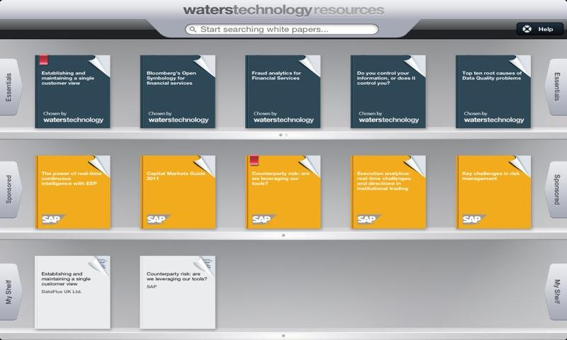 WatersTechnology Resources IT - screenshot
