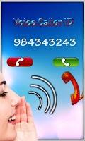 Screenshot of Voice Caller ID