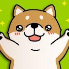 Tickling dog icon
