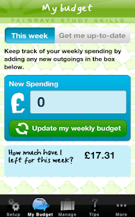 My Student Budget Planner - screenshot thumbnail